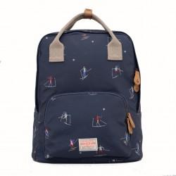 dámský batoh s motivem lyžaře modrý BRAKEBURN