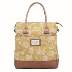 dámská kabelka žlutá s lotosem BRAKEBURN