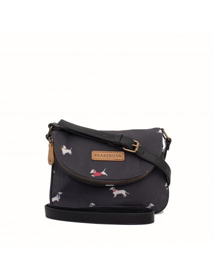 dámská kabelka šedá s jezevčíky BRAKEBURN