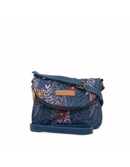 dámská kabelka modrá s květinami BRAKEBURN