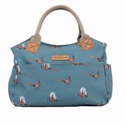 dámská kabelka modrá motiv bažant BRAKEBURN
