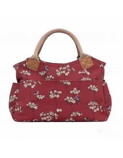 dámská kabelka červená  s květinami BRAKEBURN
