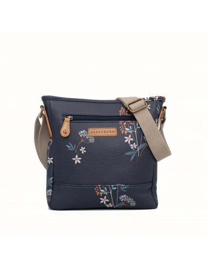c5aa0e345e dámská kabelka modrá s květinami BRAKEBURN