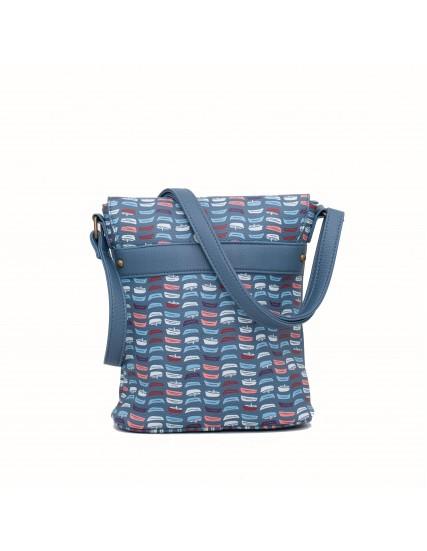 dámská kabelka modrá s motivem lodě BRAKEBURN