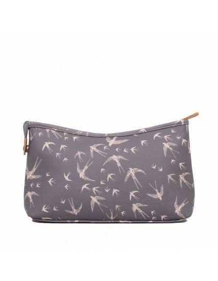 dámská kosmetická taška šedá větší BRAKEBURN