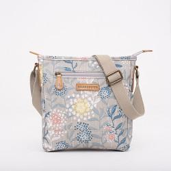 f01130427e dámská kabelka šedá květiny BRAKEBURN