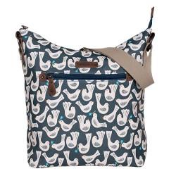 BRAKEBURN GEO BIRDS HOBO BAG