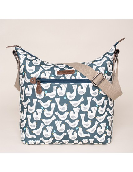 BRAKEBURN GEO BIRDS HOBO BAG