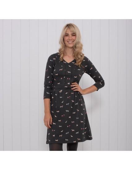 dámské šaty s motivem jezevčíka BRAKEBURN