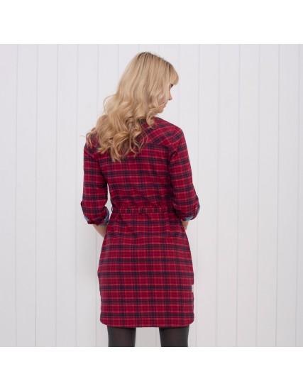 dámské kostkované šaty červené BRAKEBURN