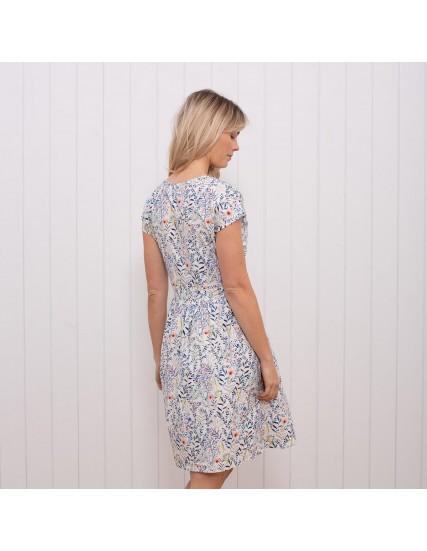 dámské květované šaty bílé BRAKEBURN