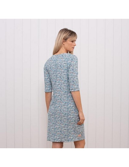 dámské puntíkaté šaty modré BRAKEBURN