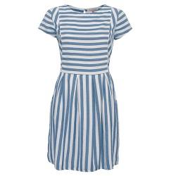 dámské pruhované modré šaty BRAKEBURN