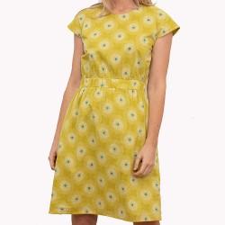 dámské šaty žluté květované BRAKEBURN