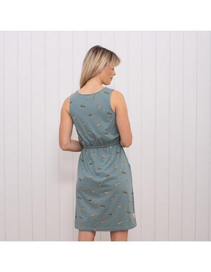 dámské šaty jezevčíci modré BRAKEBURN
