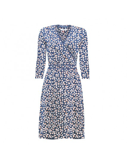 BRAKEBURN PETAL 3/4 WRAP DRESS