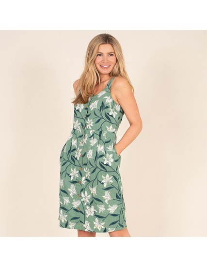 BRAKEBURN LILLY BUTTON FRONT DRESS