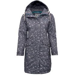 dámský kabát spotiskem vlaštovky BRAKEBURN