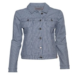 BRAKEBURN STRIPE DENIM JACKET