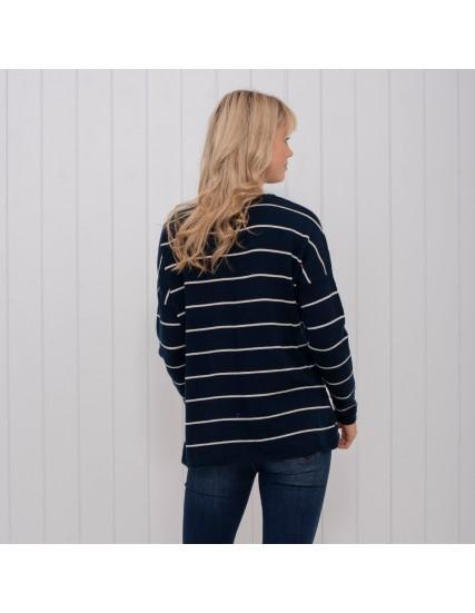 dámský modrý pruhovaný svetr BRAKEBURN