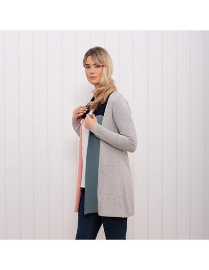 dámský šedý svetr s kapsami BRAKEBURN