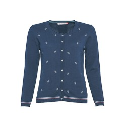 BRAKEBURN EMBROIDERED CARDIGAN