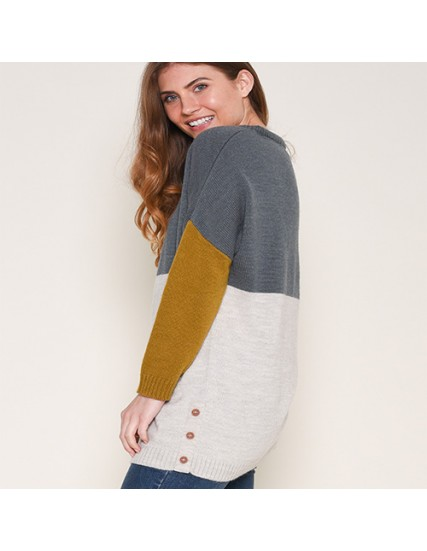 BRAKEBURN COLOUR BLOCK JUMPER