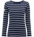 dámské pruhované triko s dlouhým rukávem BRAKEBURN