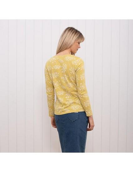 dámské triko dlouhý rukáv a květiny BRAKEBURN