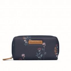 dámská peněženka modrá s květinami BRAKEBURN