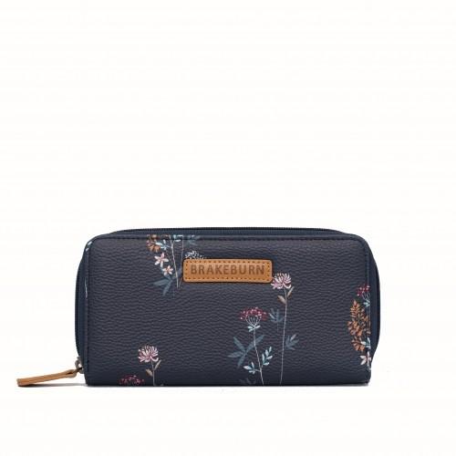 9c01f48787 dámská peněženka modrá s květinami BRAKEBURN