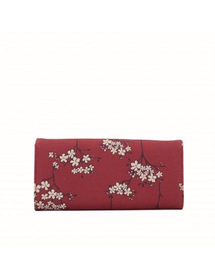 dámská peněženka s květy červená BRAKEBURN
