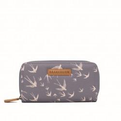dámská peněženka šedá s vlaštovkami BRAKEBURN