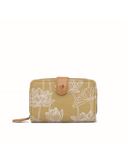 dámská peněženka žlutá s lotosem BRAKEBURN