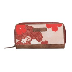 BRAKEBURN WILD ROSE ZIP PURSE