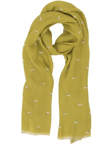 dámský šátek s motivem jezevčíka BRAKEBURN
