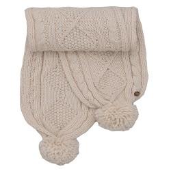 dámská pletená šála béžová BRAKEBURN