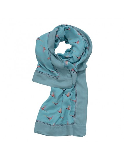 dámský šátek s motivem bažant modrý BRAKEBURN
