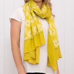 dámský šátek květiny žlutý BRAKEBURN