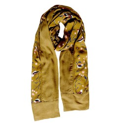 BRAKEBURN BIRD SONG BORDER SCARF