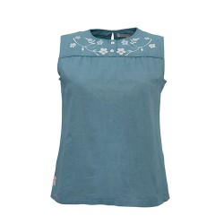 BRAKEBURN EMBROIDERED S/S BLOUSE