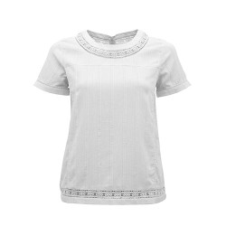 BRAKEBURN LACE TRIM BLOUSE