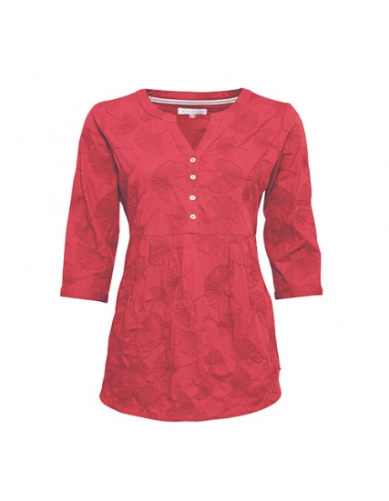 BRAKEBURN EMBROIDERED GINKGO BLOUSE