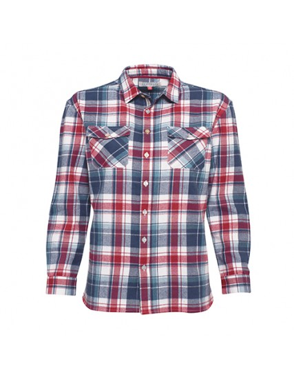 BRAKEBURN CHECK FLANNEL SHIRT