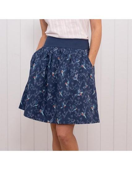 dámská sukně potisk kolibřík BRAKEBURN