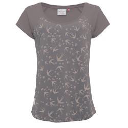 dámské tričko šedé potisk vlaštovky BRAKEBURN