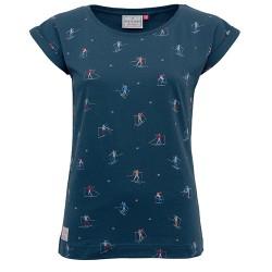dámské tričko s motivem lyžaře modré BRAKEBURN