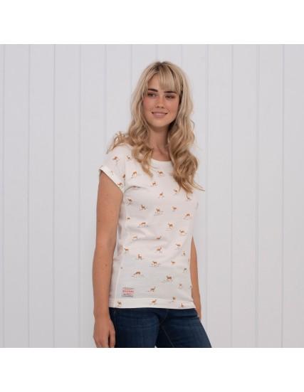dámské tričko s motivem jelena bílé BRAKEBURN