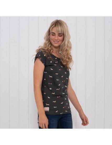 dámské tričko s motivem jezevčíka BRAKEBURN