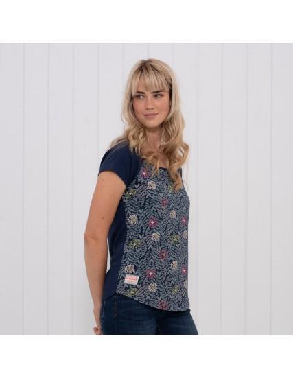 dámské tričko s motivem listu modré BRAKEBURN